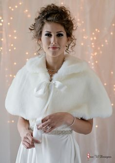 Faux Fur Capelet for a Bride's Winter Wedding cape by sewudesigns, $80.00 Don't forget to take my polls @ tiaraandthebox.com