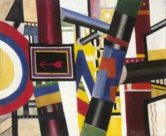 Fernand Léger - The Railway Crossing, 1919, oil on canvas, 54.1 x 65.7 cm, Art Institute of Chicago