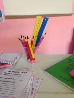 How to Make RULERS, PENCILS & WORKSHEETS for your Dolls!