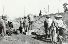 Chinese Workers for Central Pacific Railroad: The white European workers seemed to only be interested in working long enough to earn money for a pick and a claim... Gold fever prevailed among them. The Chinese worked twice as hard and faster.