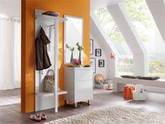 SINTIA V Garderobe 3tlg Hochglanz #weiss #modern #minimalistisch #diele #flur #praktisch