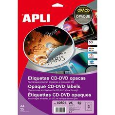 Comprar Etiquetas Cd-Dvd Mega Mate Removibles Apli 10600 #multimedia #etiquetas #blancas #CD #DVD #mega #mate #remobible