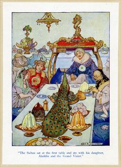 F is for Fabulous Feast (from the Arabian Nights by A.E. Jackson)