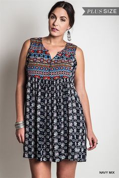 Online Clothing Boutique | Kelly Brett Boutique - Plus Size Babydoll Dress Navy, $38.00 (http://www.kellybrettboutique.com/plus-size-babydoll-dress-navy/)