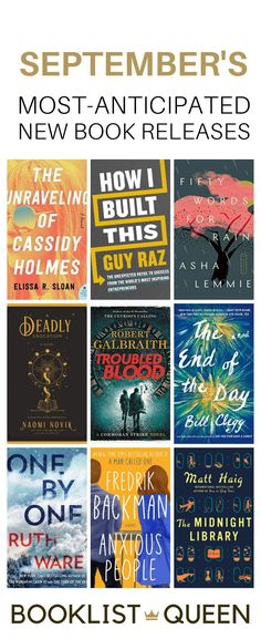 Check out the most-anticipated September new book releases. Wondering what to read now? Try one of the hot new September 2020 book releases for you. I'll let you know what to read, what to skip and what's getting all the attention this month. Books listed include: The Book of Two Ways, Anxious People, One by One, and Fifty Words for Rain