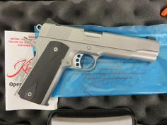 On consignment:  Kimber Stainless II 1911 .45 acp w/ case $750 - http://www.gungrove.com/on-consignment-kimber-stainless-ii-1911-45-acp-w-case-750/