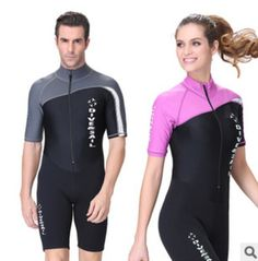 f6a936af83 Sbart Dive   Sail Front Zip Short Sleeve Wet Suit for Diving Snorkeling  Swimming Rash Guard
