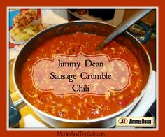 Jimmy Dean Sausage Crumbles Chili #JDCrumbles #Sponsored #ThrowbackThursdayLP