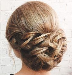 Braided Chignon With A Bouffant