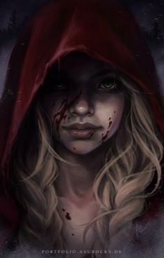 Red Riding Hood by bewareitbites - My list of the most creative tattoo models Dark Fantasy Art, Dark Art, Character Inspiration, Character Art, Sketch Style, Red Ridding Hood, Witch Cottage, Arte Obscura, Empire Of Storms