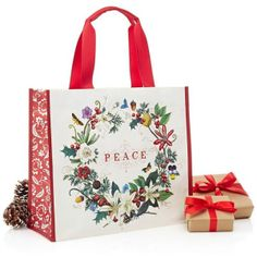 "Memento ""Peace"" Tote Bag ""x x Christmas China, Christmas Bags, Red Christmas, Holiday, Curiosity Shop, Home Gifts, Reuse, Fabric Crafts, Recycling"