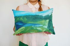 Make a paint-by-numbers pillow.