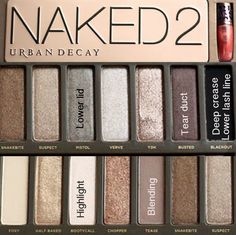 Naked 2 pallet: what to put where
