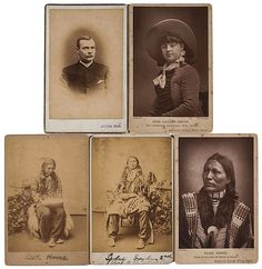 Cabinet Cards of Stars from the Wild West Shows.