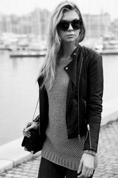 GRATIS MØNSTER HERRE OG DAME GENSER Perlestrikket genser | Tjorven Garn Wayfarer, Ray Bans, Sunglasses, Knitting, Style, Fashion, Swag, Moda, Tricot