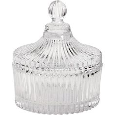 Ribbed Glass Trinket Jar Clear at Homebase -- Be inspired and make your house a home. Buy now.
