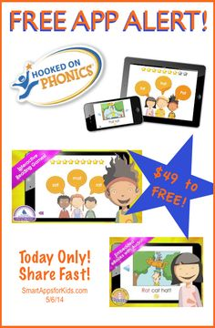 >> One Day Only! << FREE APP ALERT! $49.99 to FREE — I can't believe it!! Hooked on Phonics Learn to Read Classroom Edition  http://www.smartappsforkids.com/2014/05/4999-to-free-i-cant-believe-it-hooked-on-phonics-learn-to-read-classroom-edition.html