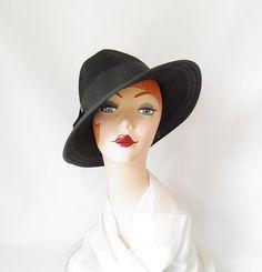 Vintage hat/ fedora/ black Betmar by TheVintageHatShop on Etsy, $46.00