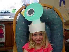 """Something very simple to do with the book """"Don't Let The Pigeon Drive The Bus!"""". Could have the students wear the hats while reading the book."""