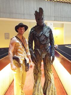 Indiana Jones and Groot cosplay at Dragon Con 2014