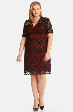 Karen Kane Scalloped Lace Dress (Plus Size) available at #Nordstrom