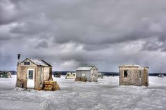Ice Fishing.. reminds me of home..Northern Michigan #puremichigan