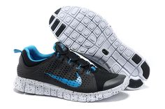 promo code d6942 cd4c8 Black Blue Nike Free Powerlines II Men s Running Shoes Discount for Grils  in Summer 2014