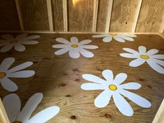 Potting shed painted floor. This almost killed me painting it, but I'm glad I did it. No stencil...freehand painting.