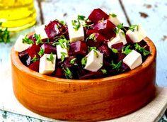 receta de cocina 🍃 ensalada de remolacha y vinagreta de queso feta con receta de limón - 豆 SONG SPOONS (recipe) - Beet Recipes, Lemon Recipes, Salad Recipes, Healthy Recipes, Queso Feta, Cooking Beets, Cheese Salad, Beet Salad, Organic Recipes