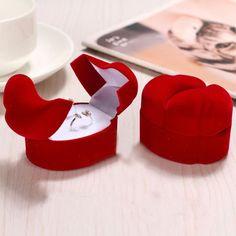 Red Velvet Couple's Ring Box