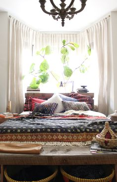 Recámara con estilo étnico - Casa Haus - Decoración