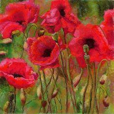 "Carol Flatt Art: ""Poppy Fest"" 11"" X 12"" Pastel SOLD"