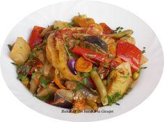 Ghiveci de legume la cuptor - Bunătăți din bucătăria Gicuței Raw Vegan Recipes, Vegan Food, Thai Red Curry, Ethnic Recipes, Veggie Food, Vegan Meals, Vegetarian Food