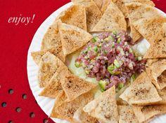 tuna tartare recipe with spiced pita crisps