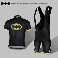 Batman Costume Cycling Kits Bicycle Suit Short Jersey Bib Short Size s XXXL | eBay