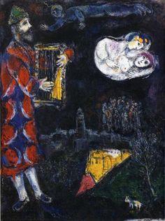 Марк Шагал :: Башня царя Давида (1968-71 гг.) Башня царя Давида (1968-71 гг.) Холст, масло 116 × 89 см Частная коллекция