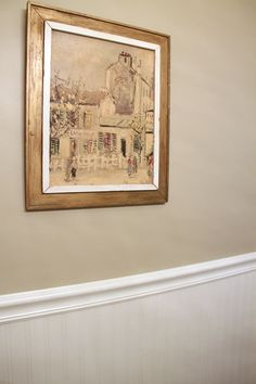 """Sherwin Williams color """"Windsor Greige""""- This is our new living room color. Love it!"""