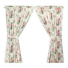 """EMMIE curtains with tie-backs, 1 pair, multicolor Length: 98 """" Width: 57 """" Weight: 2 lb 3 oz Length: 250 cm Width: 145 cm Weight: 1.00 kg"""