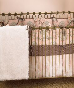 Look what I found on #zulily! Pink & Charcoal Nightingale Crib Sheet Set #zulilyfinds