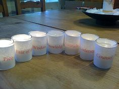 Gifts of the spirit candle idea. This blog post is FULL of ideas for celebrating Pentecost with tons of pictures!