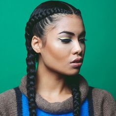 French Braids With Weave Ideas for weaving a french or an inverted french braid your hair French Braids With Weave. Here is French Braids With Weave Ideas for you. French Braids With Weave for weaving a french or an inverted french braid yo. Two Braid Hairstyles, Braided Hairstyles For Black Women, Braids For Black Hair, Black Hairstyles, Hairstyle Ideas, American Hairstyles, Hairstyles 2018, Hair Ideas, Wedding Hairstyles
