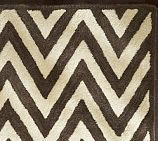 Pottery Barn Hayden Zig Zag Rug Swatch Black/Ivory. Must have this!