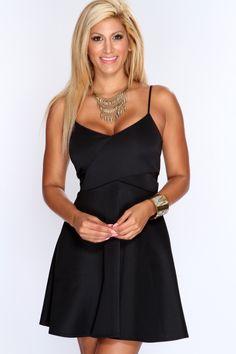 Black Sleeveless A-Line Sexy Party Dress