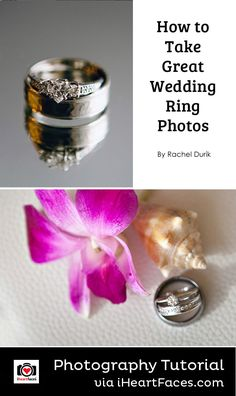 How To Take Great Wedding Ring Photos #photography #iheartfaces #wedding #ring