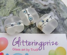 Abstract glass lampwork beads, these sold out before I could list them on Etsy x