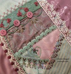 Ribbon and embroideries