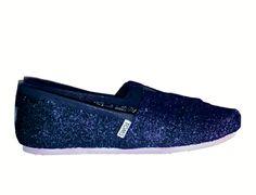 Women s Sparkly glitter Toms Navy Blue Wedding bride shoes www.glittershoeco .com Blue Wedding. Glitter Shoe Co a2cf3cf17