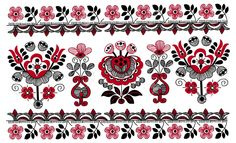 Pattern Whit Decorative Flowers, Hungarian Motive Royalty Free Cliparts, Vectors, And Stock Illustration. Pic 16520672.