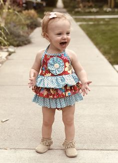 Mack & Co First Look: 'Yay, it's She wears the Maxx Floral Blue/Red Quilted Jacket, Baby Girl Fashion, Baby Wearing, Frocks, Baby Dress, Flower Girl Dresses, Summer Dresses, Wedding Dresses, Coat