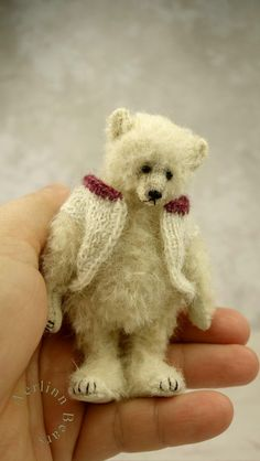 Matthias Grey Miniature 4 Artist Teddy Bear by by aerlinnbears